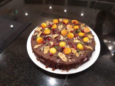 Šokoladinis tortas arba pyragas be kvietinių miltų ir cukraus