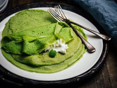 Žali lietiniai blynai (be laktozės)