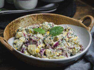 Tradicinės skandinaviškos bulvių salotos