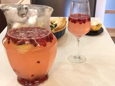Spanguolių, granatų ir citrinų (arba žaliųjų citrinų) gėrimas